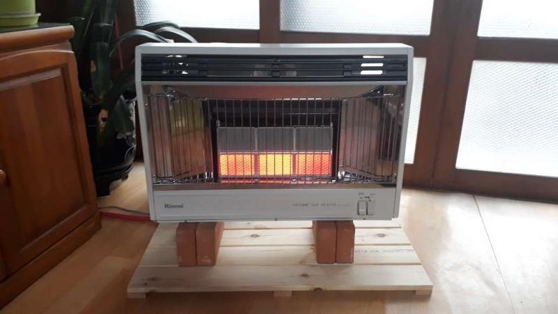 린나이 적외선 가스난로 RHS-650WF 벽걸이형 온풍겸용 개스히터