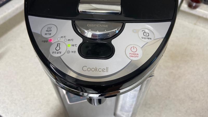 상품사용후기 제품리뷰 쿡셀 대용량 5L 전기 보온포트 EKP-CS500B 시용시 문제점