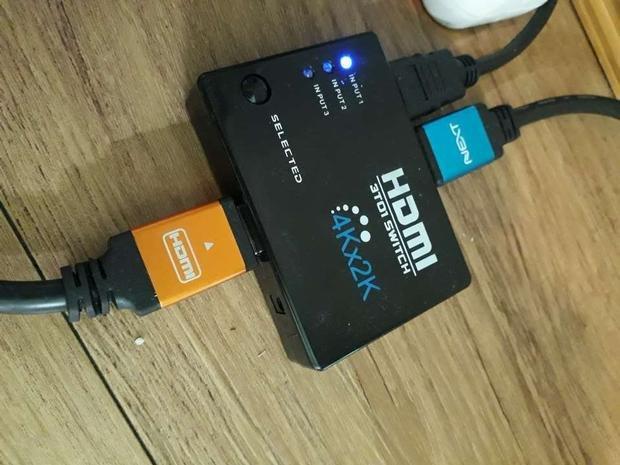 상품사용후기 제품리뷰 HDMI 컴스 선택기(3대1) 4K 리모콘 BB625
